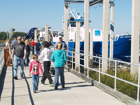 Tour the Skidaway Institute's ocean-going Research Vessel Savannah.
